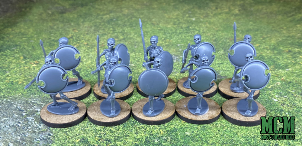 28mm Skeleton Warriors armed with spears