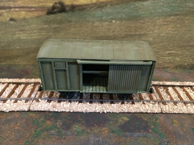 28mm rail car for WW2 miniatures gaming