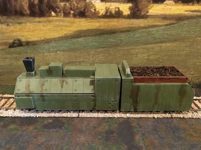 Soviet Armored train in 28mm - Bolt Action terrain