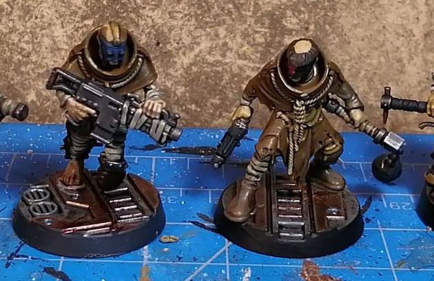 Necromunda Miniatures - House Cawdor Gang