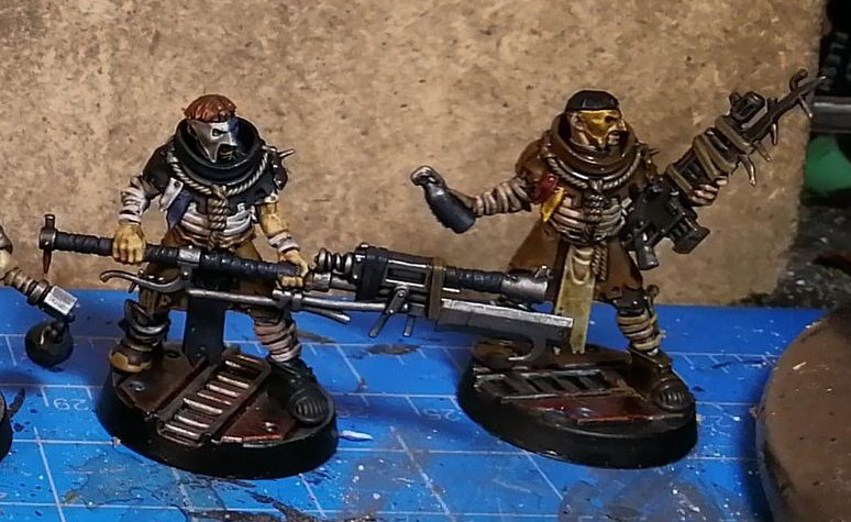House Cawdor miniatures for Necromunda - as painted by Dave Lamers