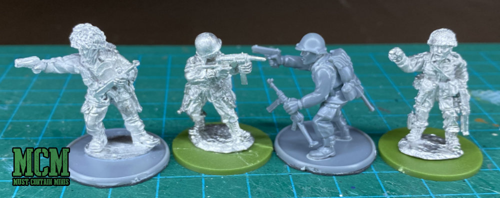 Scale Comparison Image of WW2 Miniatures