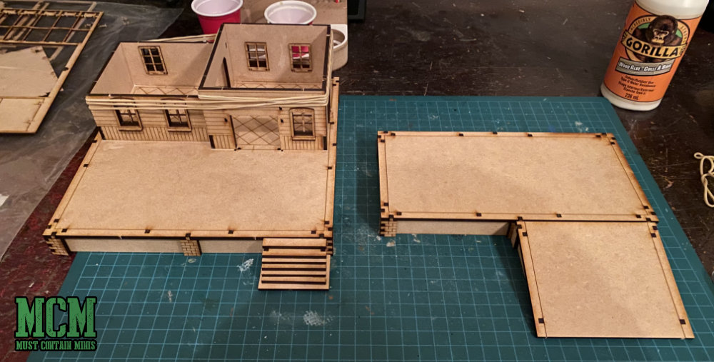Using Gorilla Wood Glue for an MDF wargame terrain project