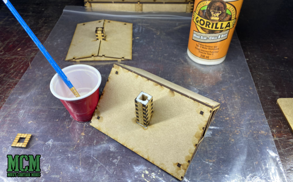 I like to use Gorilla Glue for my projects and use a brush to apply it to the models.