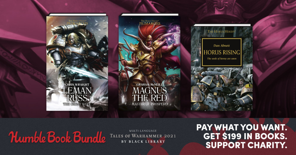 Huge Sales at Humble Bundle for Warhammer Novels - Learn the lore of the 40K and Age of Sigmar Worlds