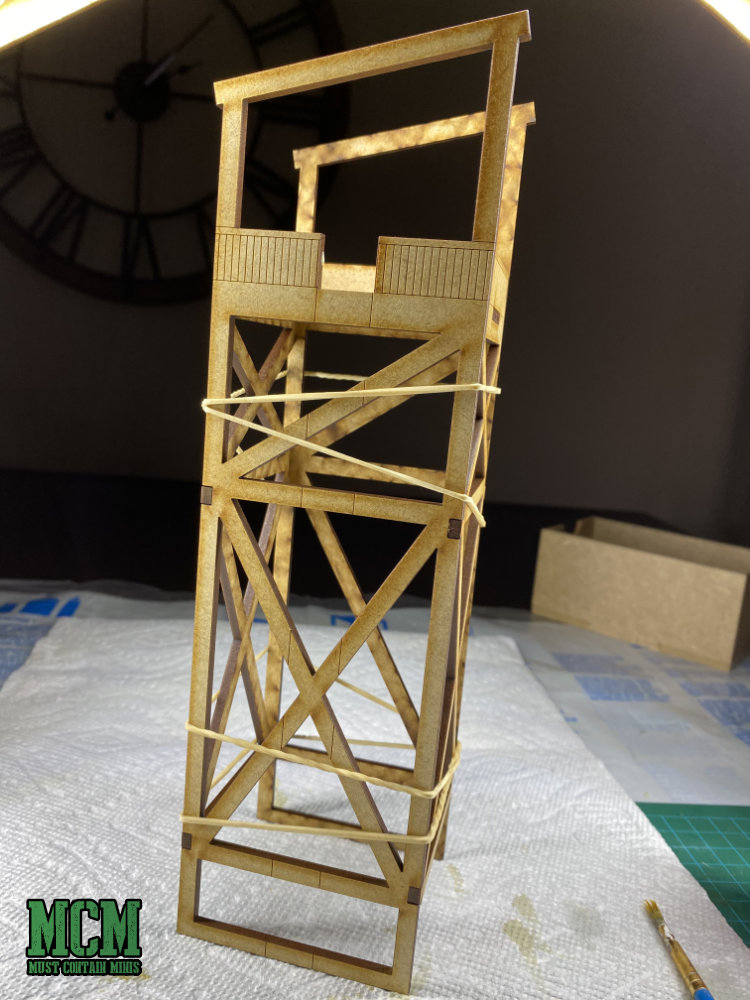 A 28mm guard tower. I could envision this being used for many different games going from Bolt Action all the way up to Warhammer 40,000.