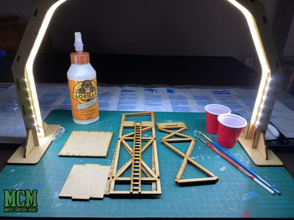 Building a 28mm MDF Terrain Kit. Guard Tower for Bolt Action, Warhammer 40K and other games too.
