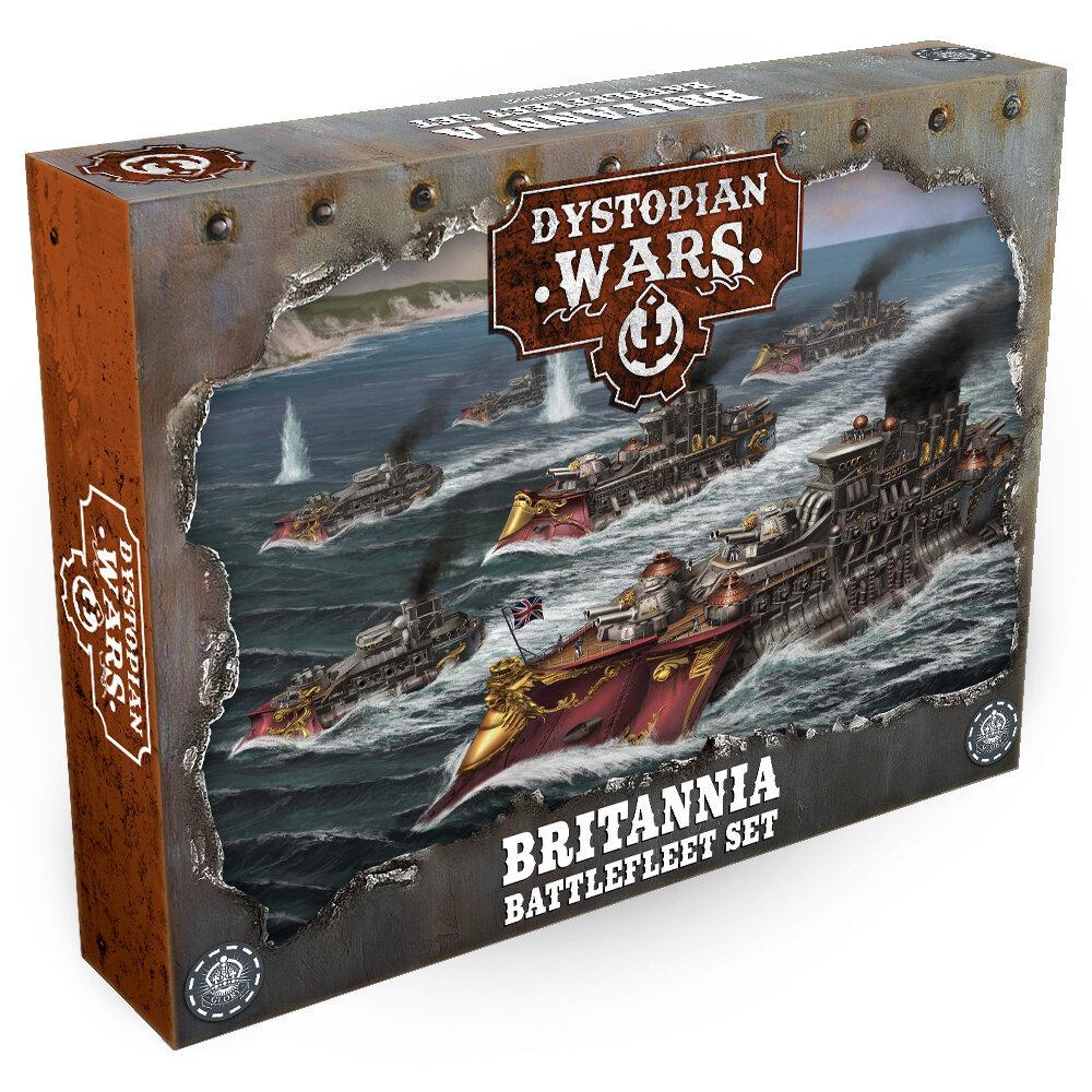 Dystopian Wars British Starter Set - Britannia Battlefleet Set Spoiler