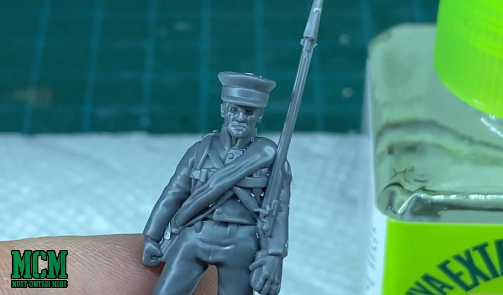 Wargames Atlantic Napoleon Wars Prussian Reserve Review - Close up of miniature