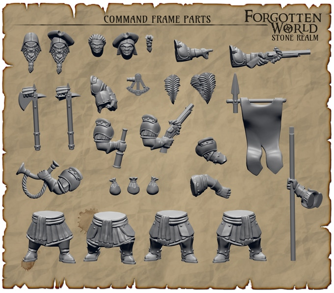 Preview Command Sprue of Forgotten World Stone Realm Dwarves