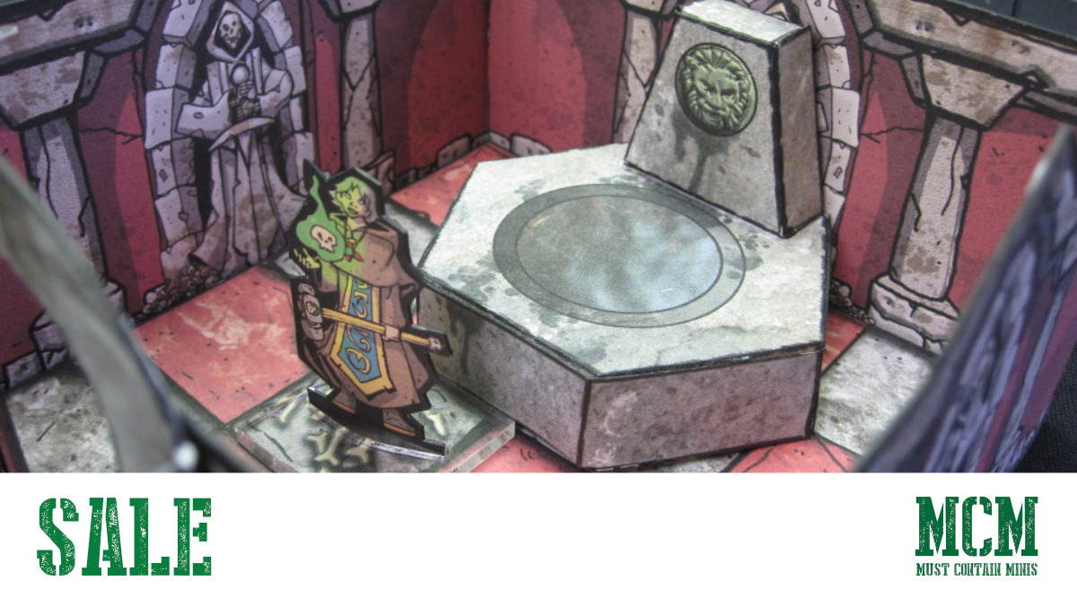 Enjoy Affordable Dungeon Delving with Okumarts – Papercraft Terrain & Minis
