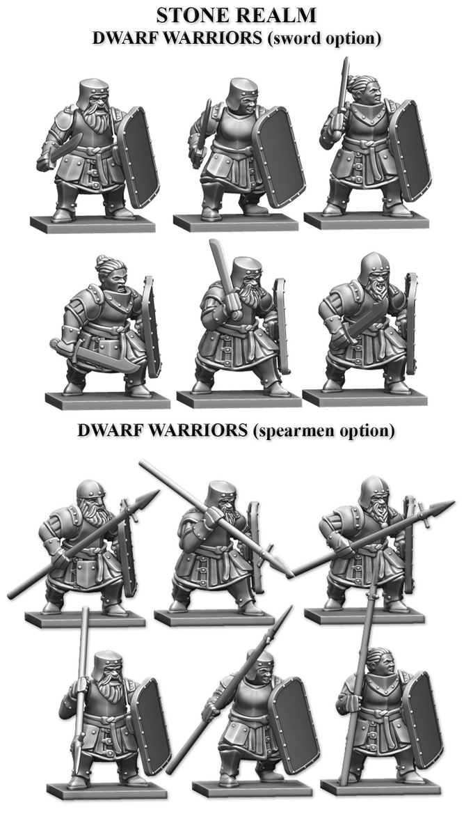 28mm Dwarf Warriors - Alternatives to Mantic Games and Games Workshop