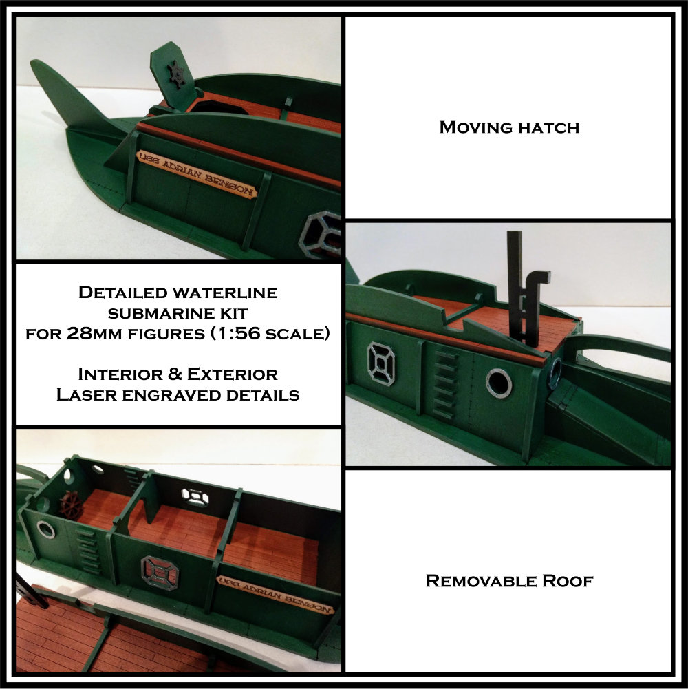 A great looking submarine from Things From the Basement for 28mm gaming.