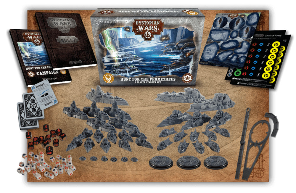 The Hunt for the Prometheus Two-Player Starter Set for Dystopian Wars