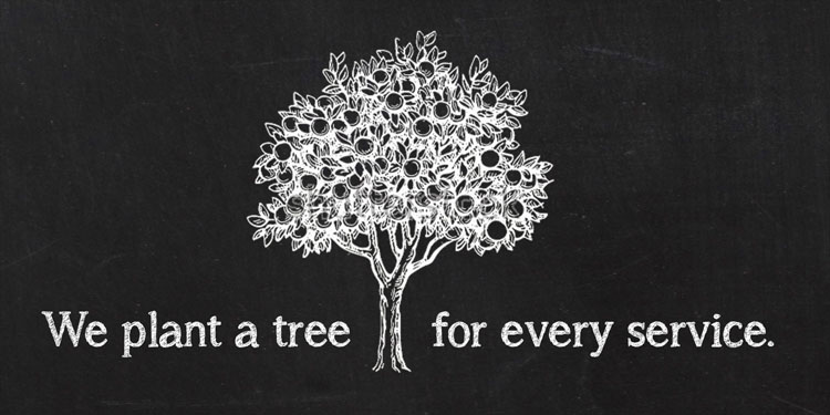 We Plant a Tree for Every Service