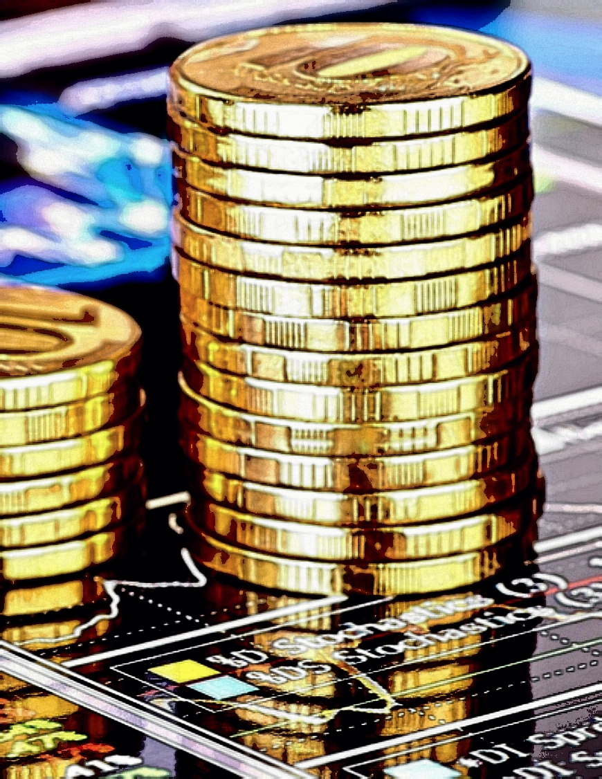 Stack of Gold Coins Graphic