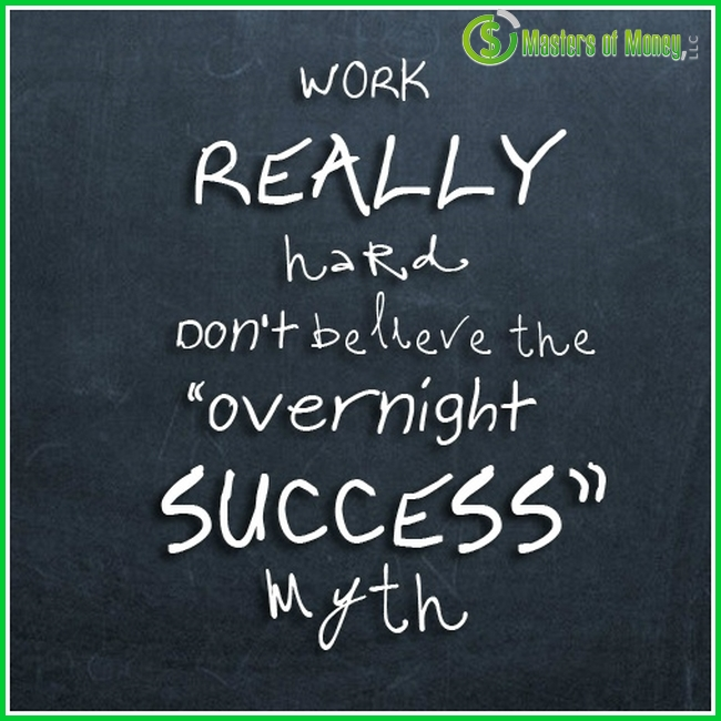 Masters of Money LLC Overnight Success Myth Quote Picture
