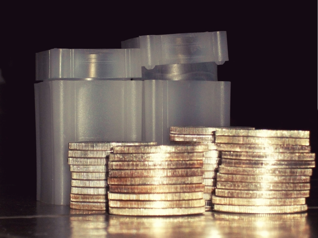Gold Bullion Coin Stack Picture