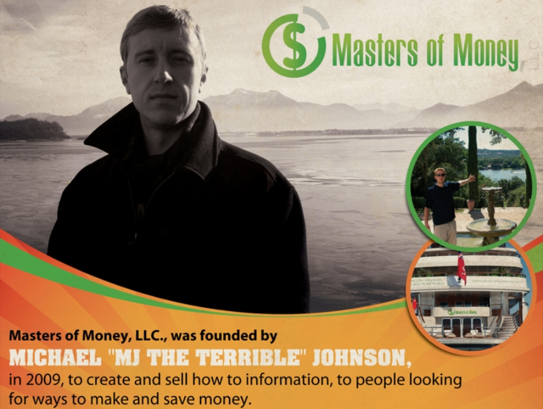 "Masters of Money & Michael ""MJ The Terrible"" Johnson Poster Picture"