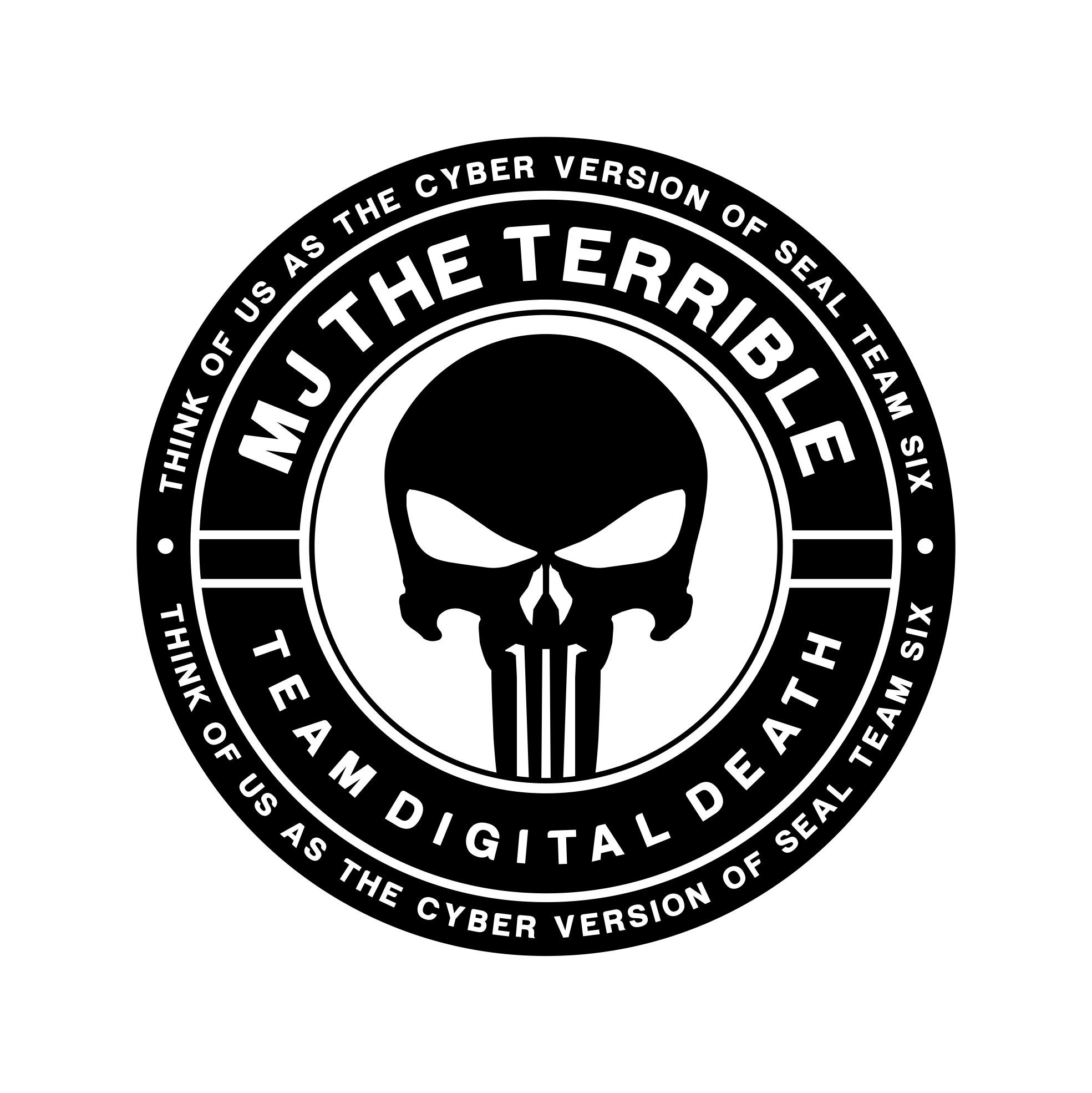 """MJ The Terrible"" & Team Digital Death Logo"