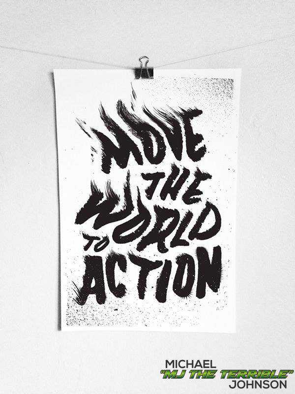 Move The World To Action Quote Picture