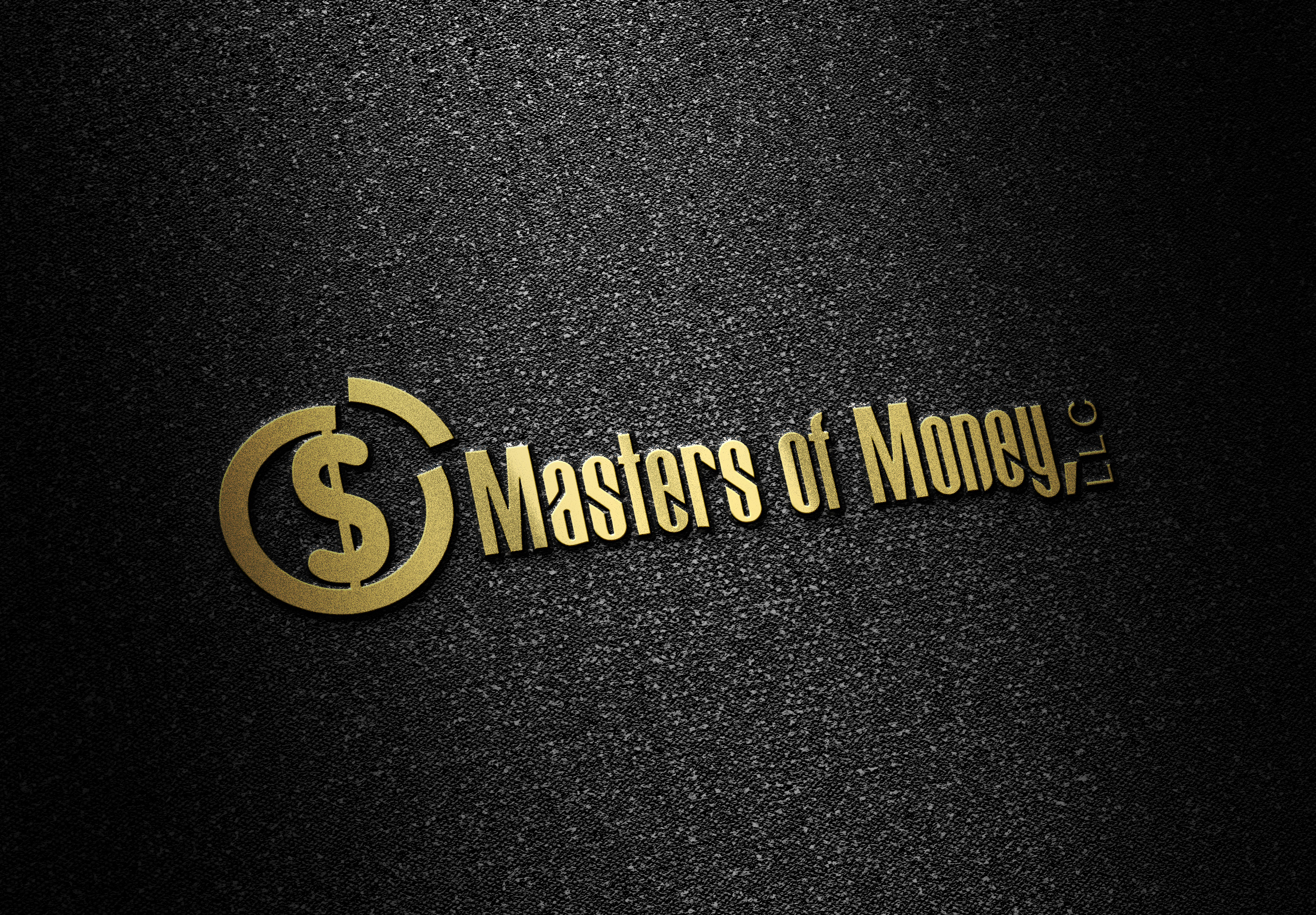 Masters of Money LLC Gold and Black Logo Placement Picture