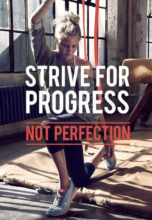 Masters of Money LLC Strive For Progress Not Perfection Quote Picture