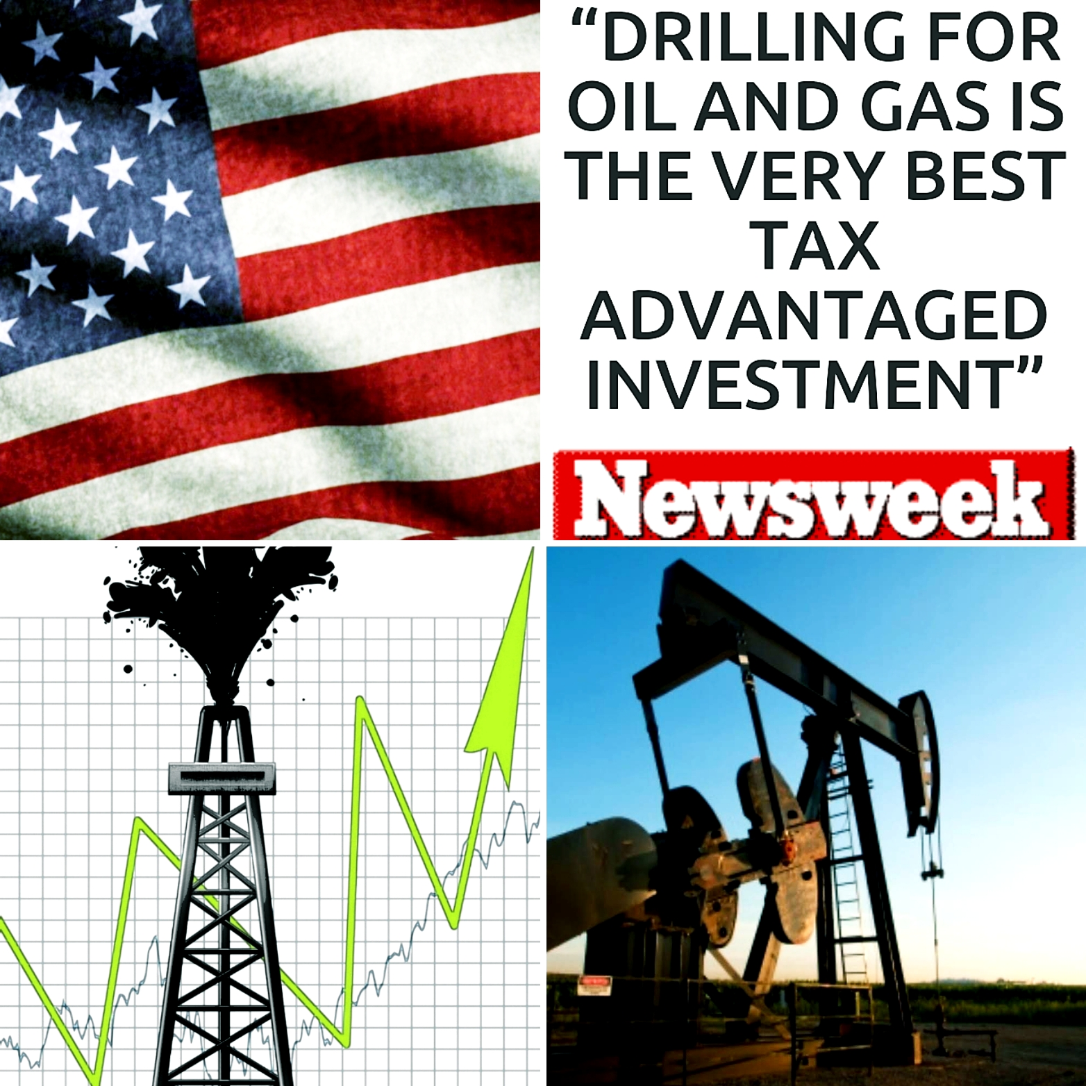 American Oil and Gas Investment Collage Photo