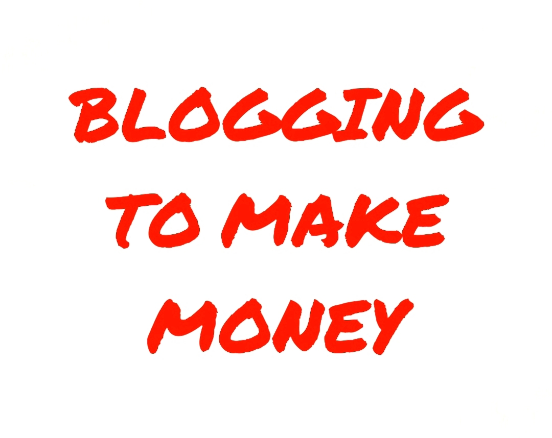 BLOGGING TO MAKE MONEY RED & WHITE GRAPHIC