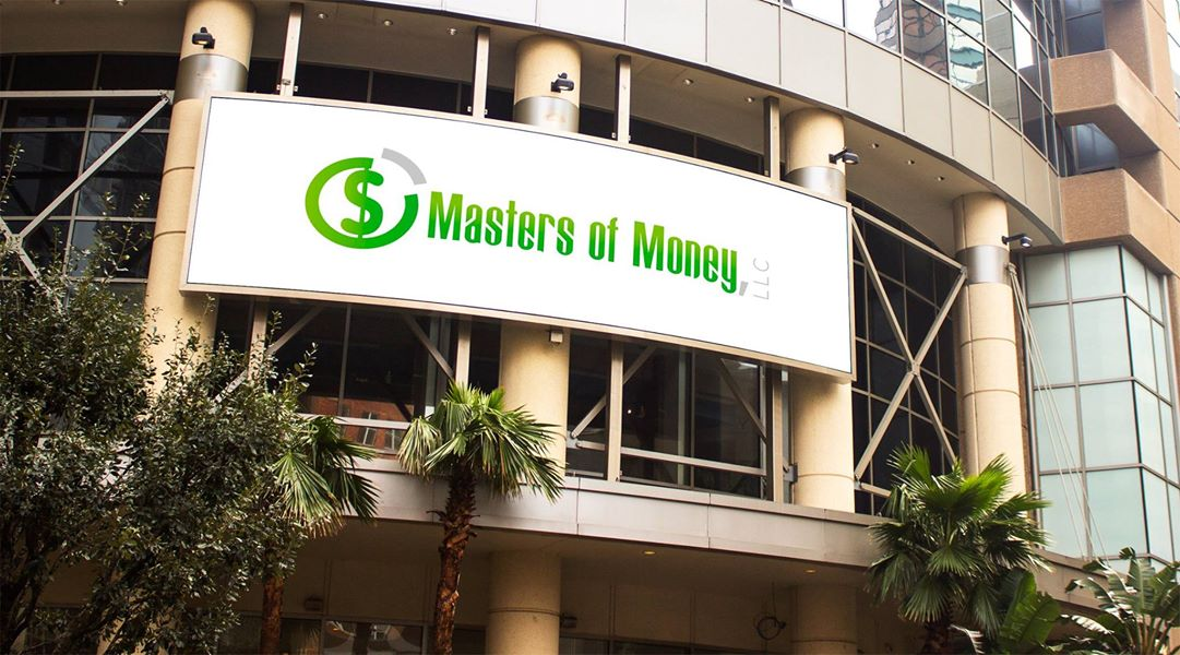 Masters of Money LLC Logo On Building Billboard Photo