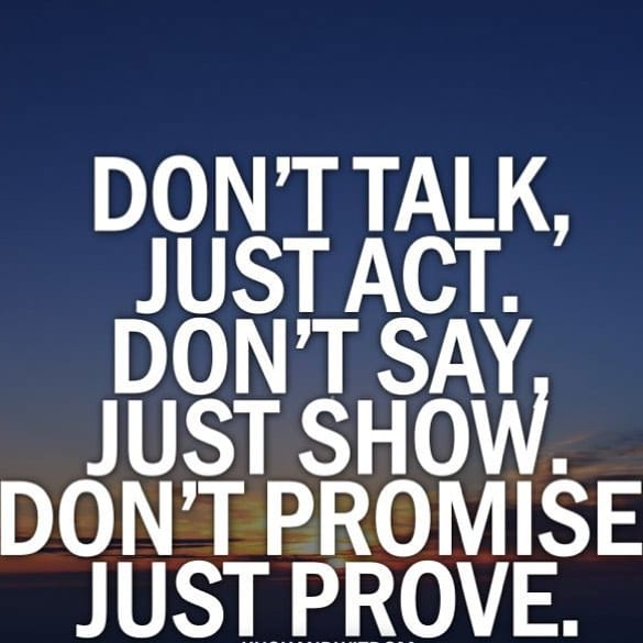 Don't Talk About It Do It Quote Picture