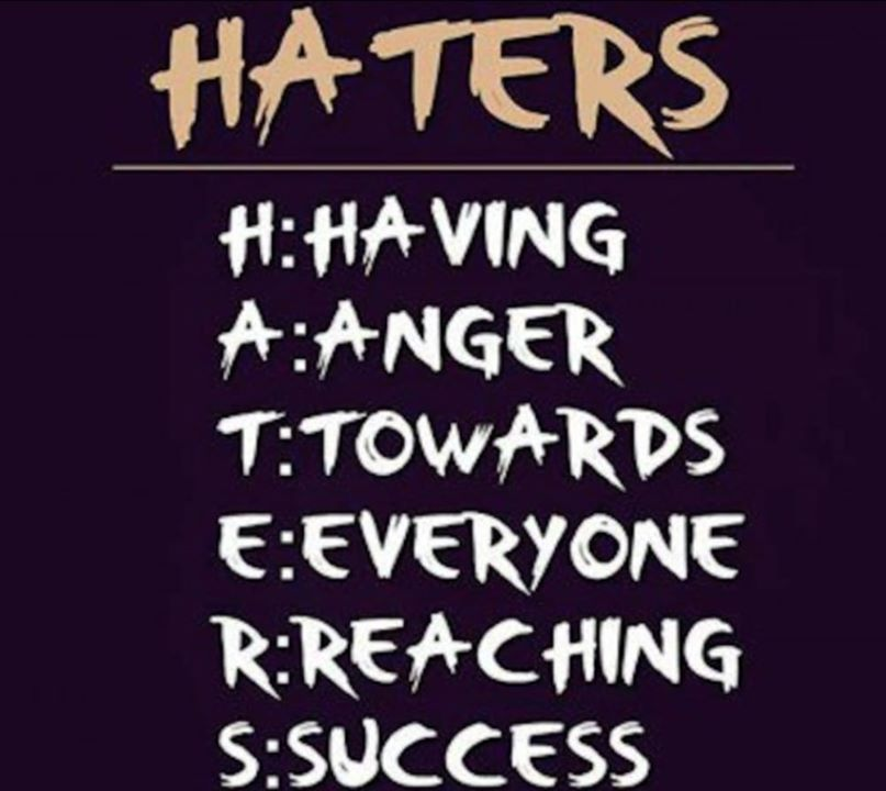 Haters Quote Picture Graphic