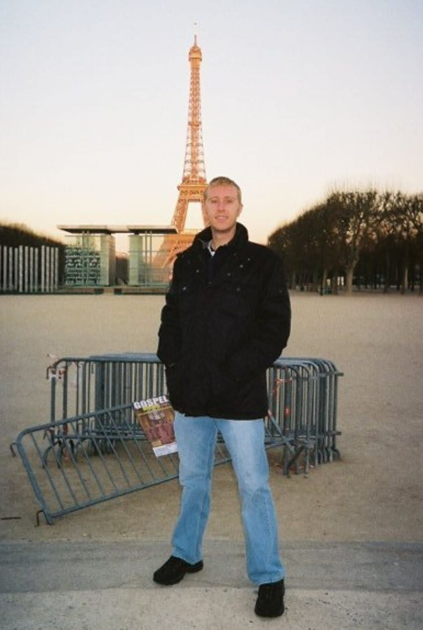 "Michael ""MJ The Terrible"" Johnson in Paris at the Eiffel Tower"