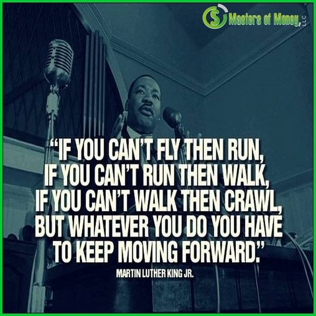 Martin Luther King Jr Masters of Money LLC Logo Branded Quote Picture