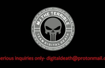 MJ The Terrible and Team Digital Death Logo and Email Address Graphic