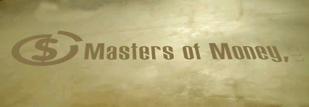 Masters of Money LLC Logo Drawn In The Sand Photo
