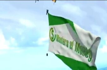 Masters of Money LLC Skydive Logo Flag Promotional Video Picture