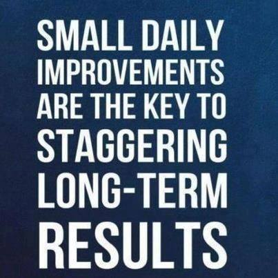 Small Daily Improvements Are The Key To Staggering Long-term Results Masters of Money LLC Picture Quote