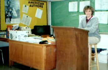 Jeanne P. Johnson In Classroom Teaching Photo