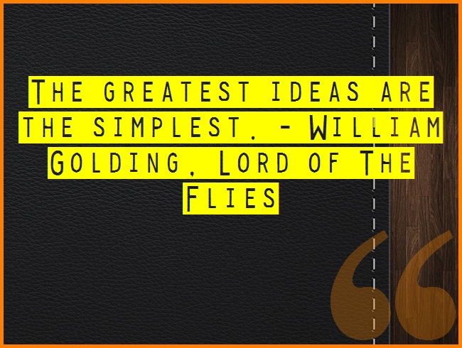 Masters of Money LLC The Greatest Ideas Are The Simplest. Proverb Quote Picture
