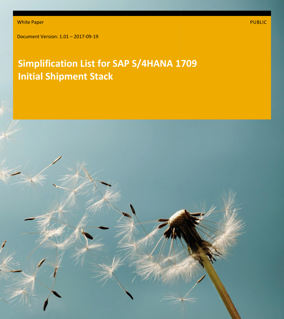 S/4HANA Changes for Project Systems (PS)