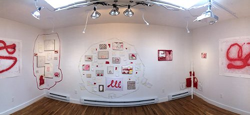 """little e"", installation panorama"