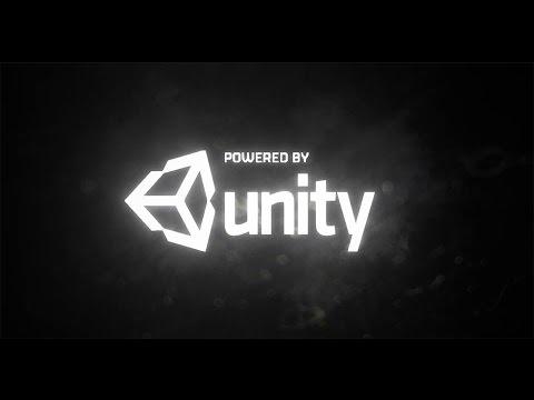 powered by unity splash screen c# script