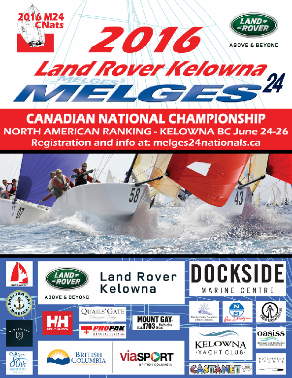 Land Rover Kelowna 2016 Melges 24 Nationals Poster