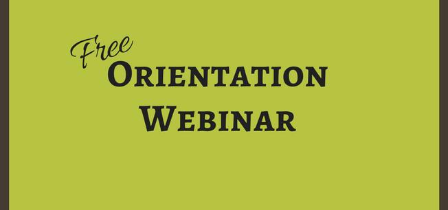 Orientation Webinar