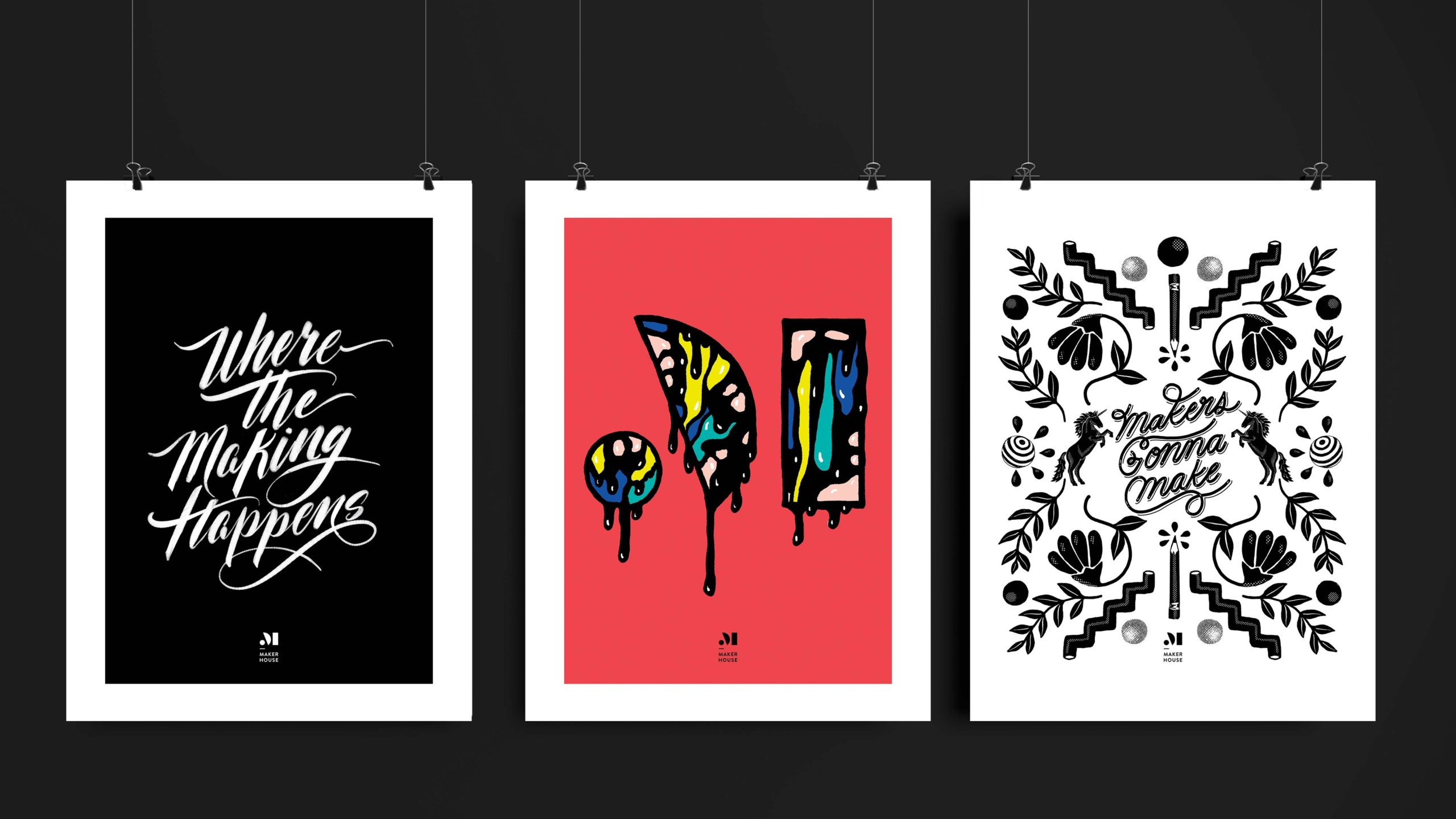 Three poster mockup set