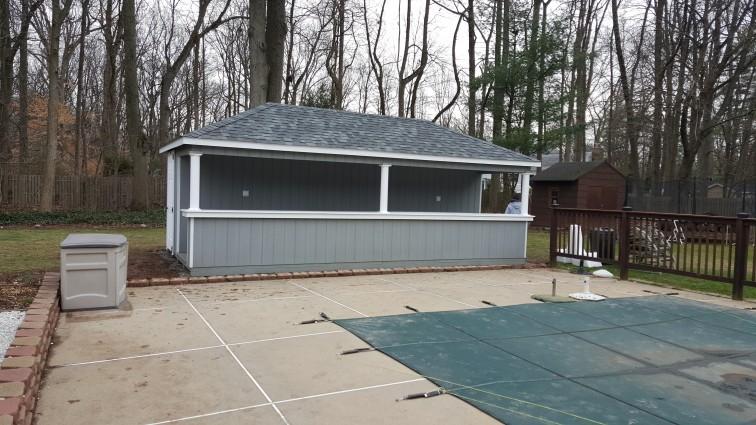 10 x 16 T111 Wood Siesta Pool House