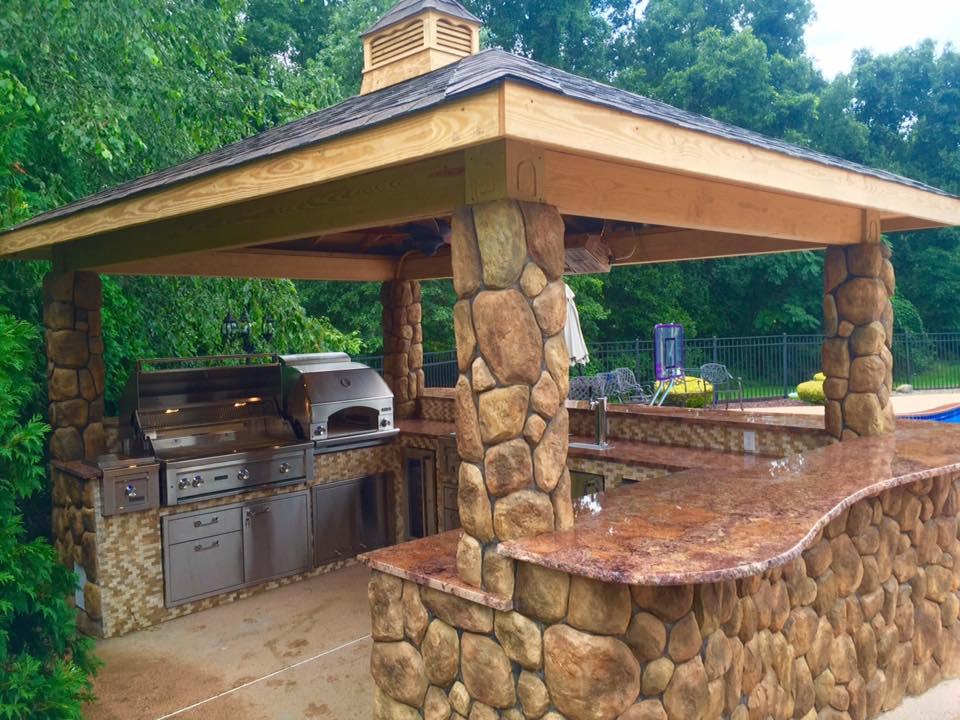 Wood Pavilion - Outdoor Kitchen