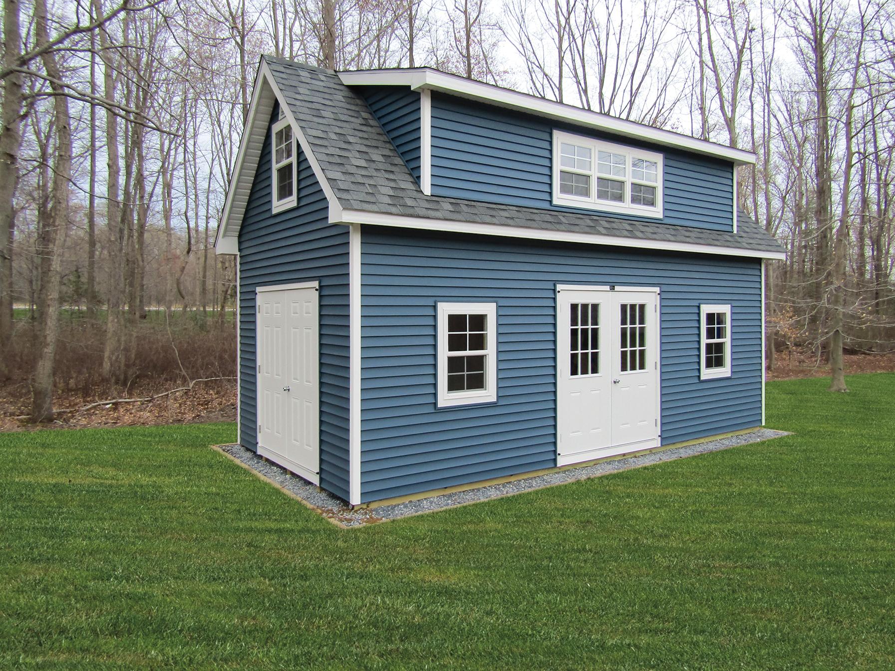 12 x 24 2 story 1 car garage with Full Dormer