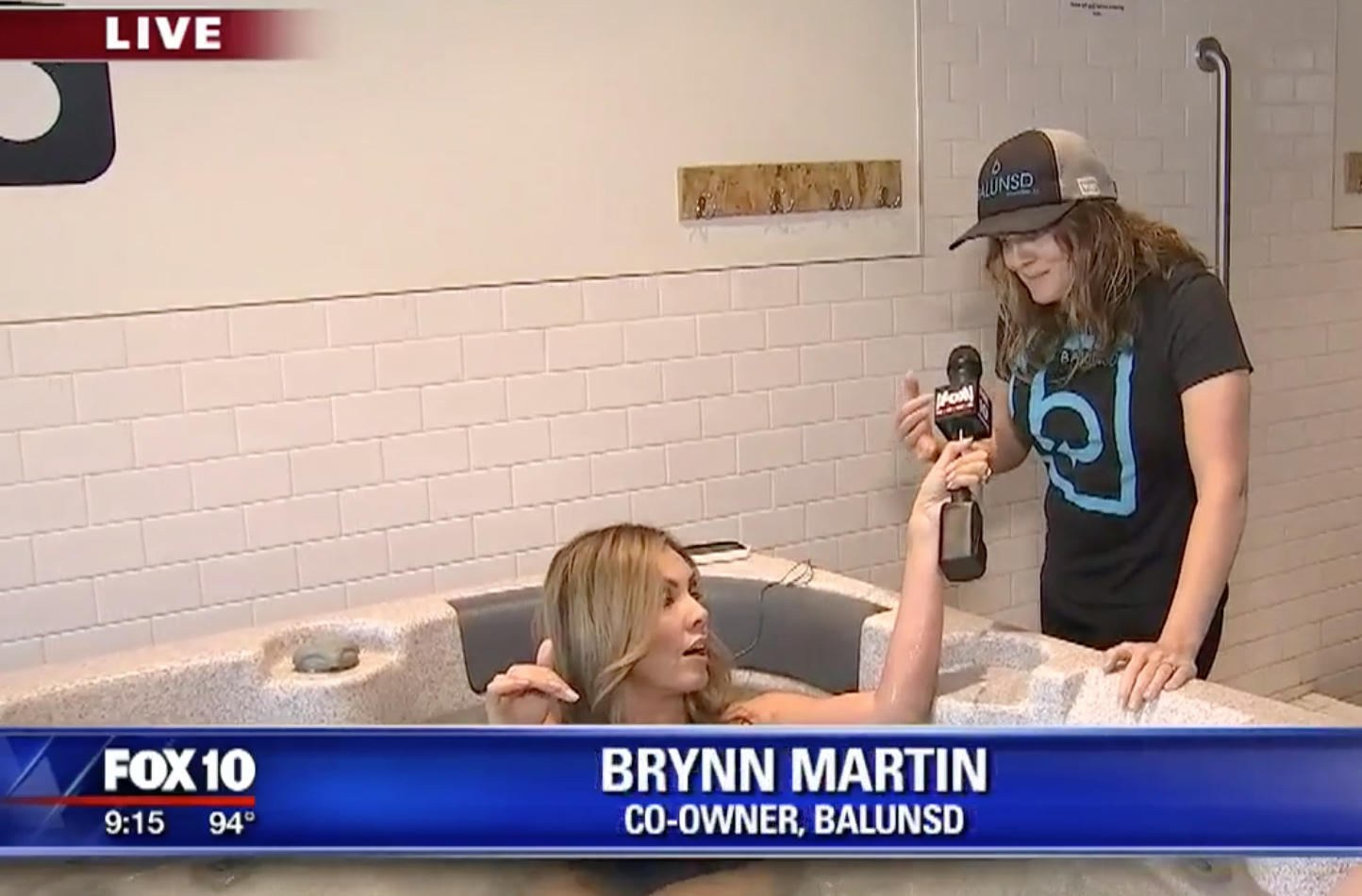 FOX 10's Renee Nelson Comes to BALUNSD to Ice Bath!